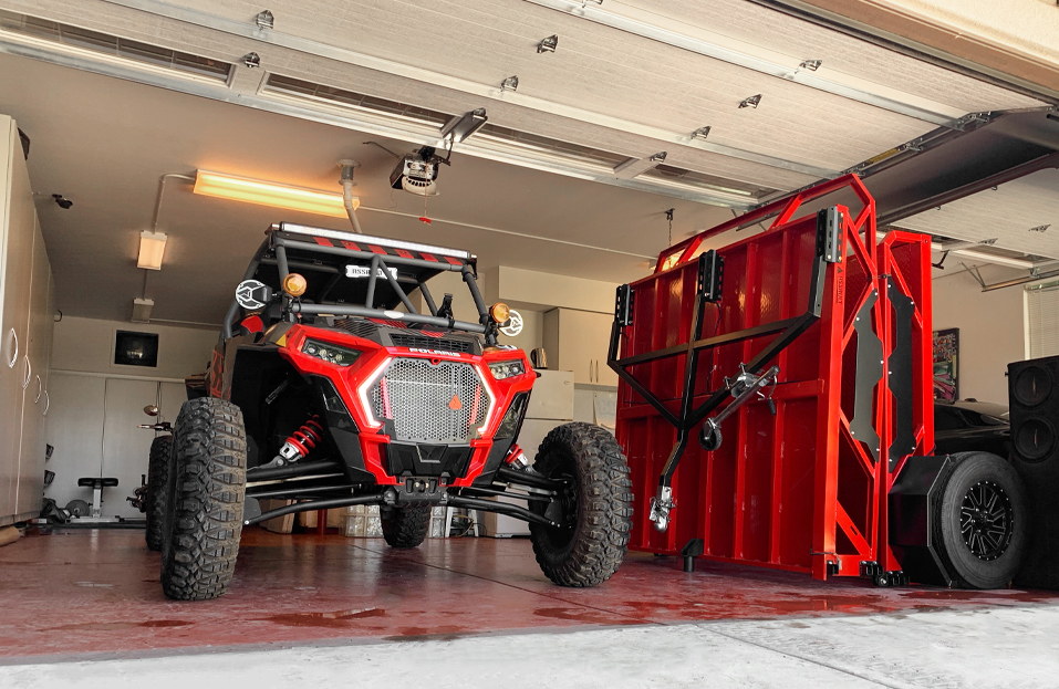 Assault Trailers - the foldaway storage solution