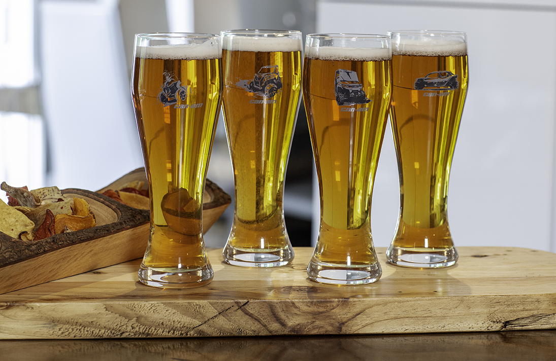 Can-Am Off-Road pint glasses