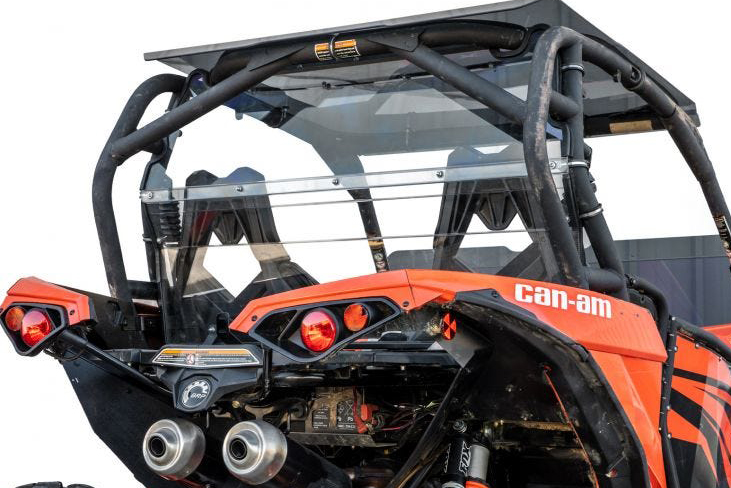 SuperATV Can Am Maverick Rear Windshield
