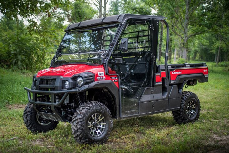 SuperATV Kawasaki Mule FXT Full Enclosure Doors